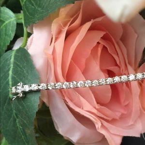 Jewelry - Ladies round cubic zirconia tennis bracelet